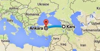 Uçakla Kars-Ankara