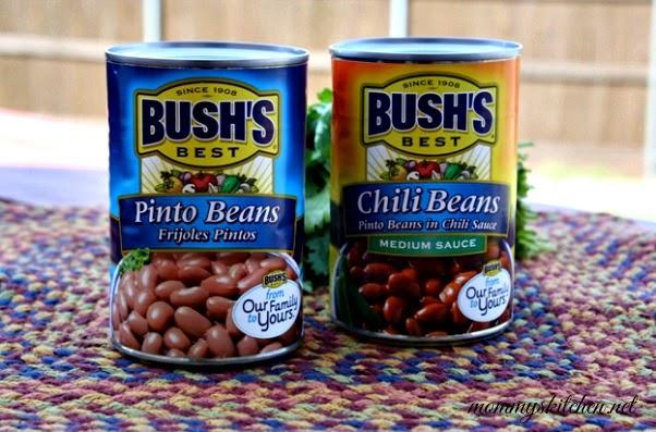 ... Kitchen: Cheesy Spanish Rice Casserole & Half-Smashed Refried Beans