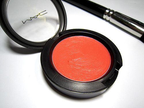 mac optimistic orange blush