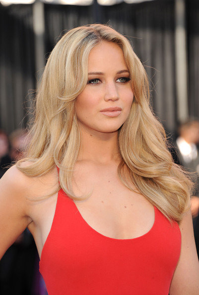 Jennifer Lawrence in red