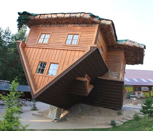 Upside Down House Szymbark Poland
