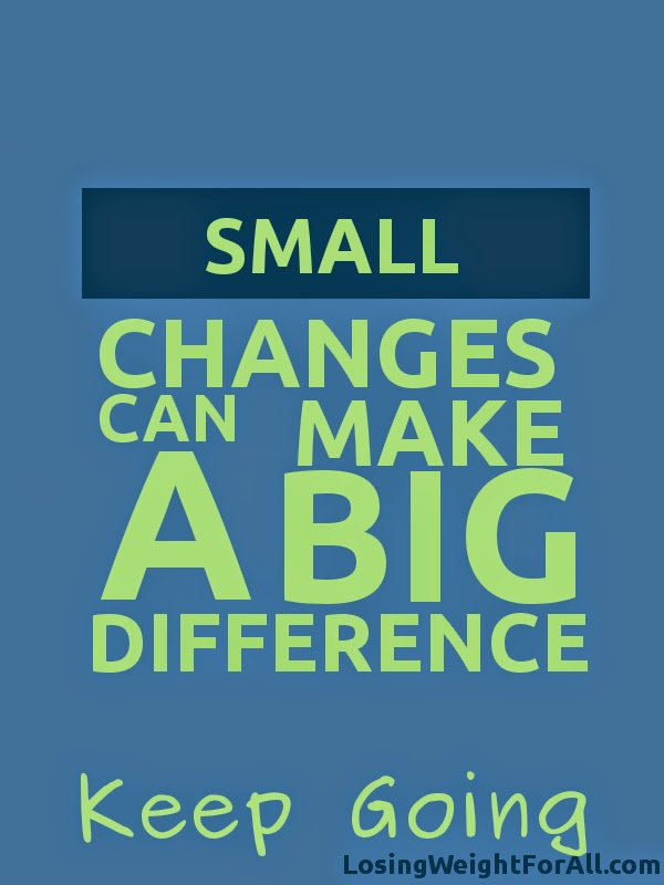 Keep Going small changes make big difference