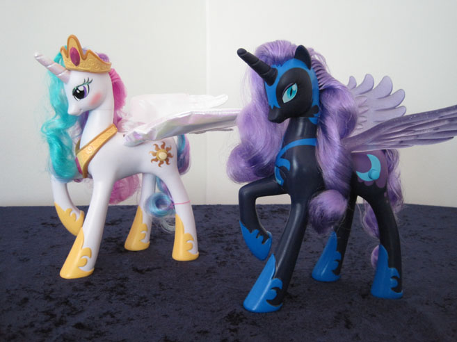 MLP: FiM Talking Princess Celestia and Nightmare Moon.