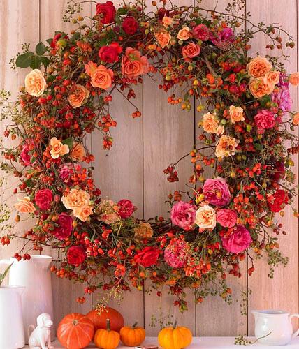 Tra orto e giardino ghirlande e decorazioni autunnali con materiali naturali - Decorazioni per giardini ...