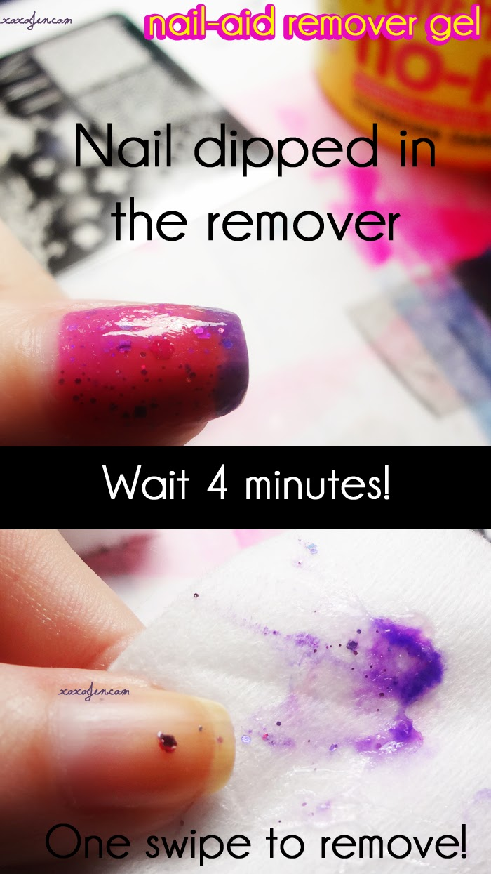 xoxoJen's test of Nail-aid remover gel