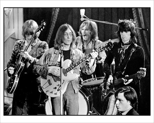 The Dirty Mac - John Lennon, Eric Clapton, Keith Richards e Mitch Mitchell