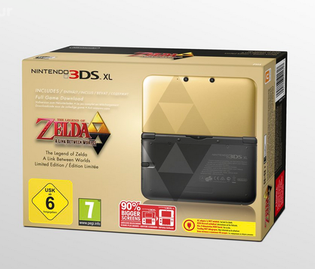 European Zelda 3DS XL, A Link Between Worlds, special edition Zelda 3DS