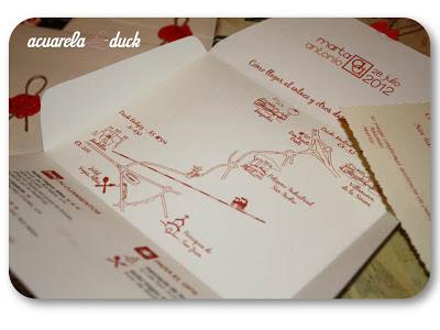 plano direccional invitación boda