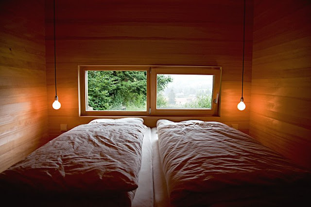 Cuarto de dormir con dos camas