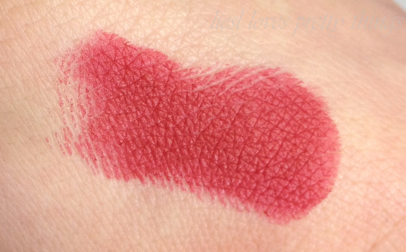 Milani Moisture Matte Lipstick-- Matte Confident swatch and review