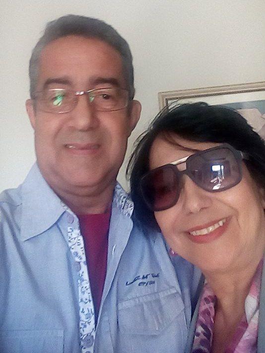 Eu e meu esposo Levi Mendes