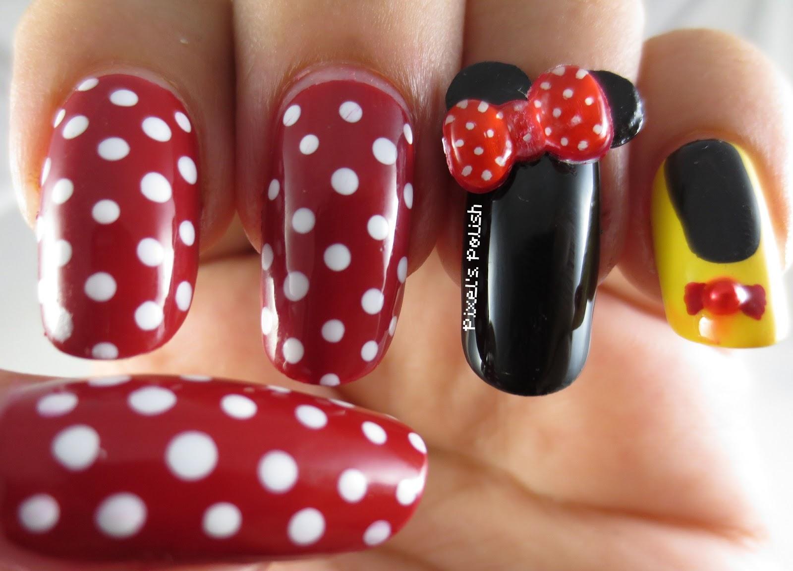 Pixel's Polish: Disney Inspiration: Minnie Mouse