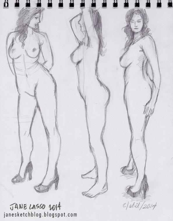 Dibujo de mujer desnuda
