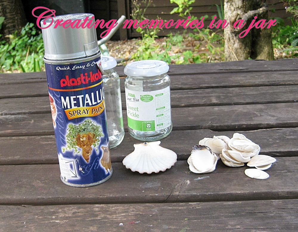 Memories in a jar tutorial supplies