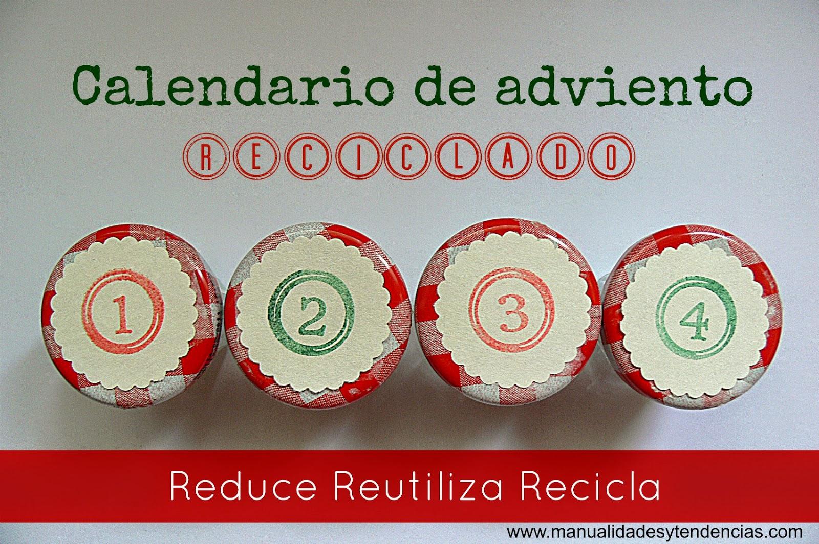 Manualidades y tendencias: Calendario de adviento reciclado / Recycled