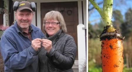 The woman who lost her wedding ring and found it 16 years later in a carrot from her garden