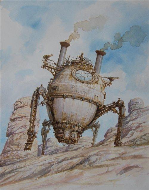 Vadim Voitekhovitch voitv deviantart ilustrações steampunk navios e naves