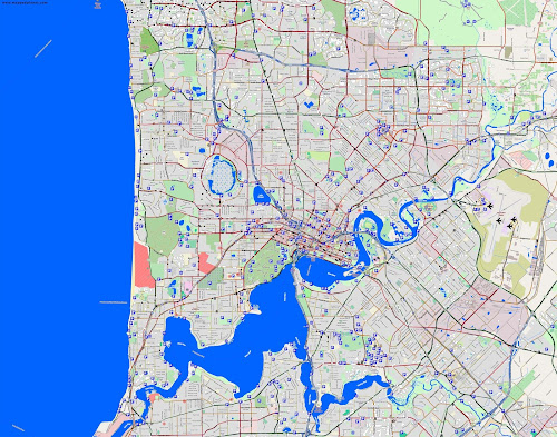 Mapa de Perth