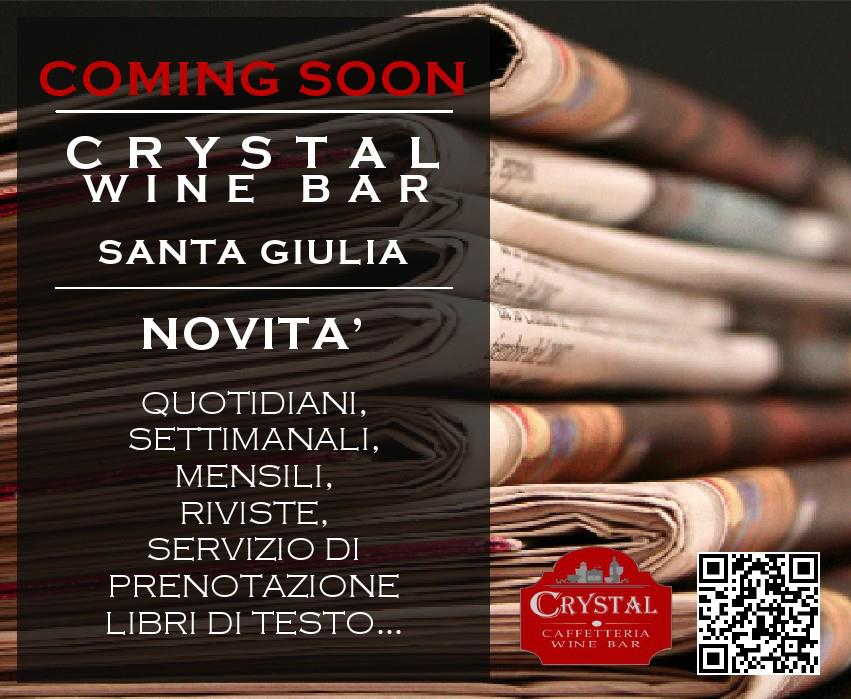Sgmap crystal win bar milano santa giulia for Crystal bar milano