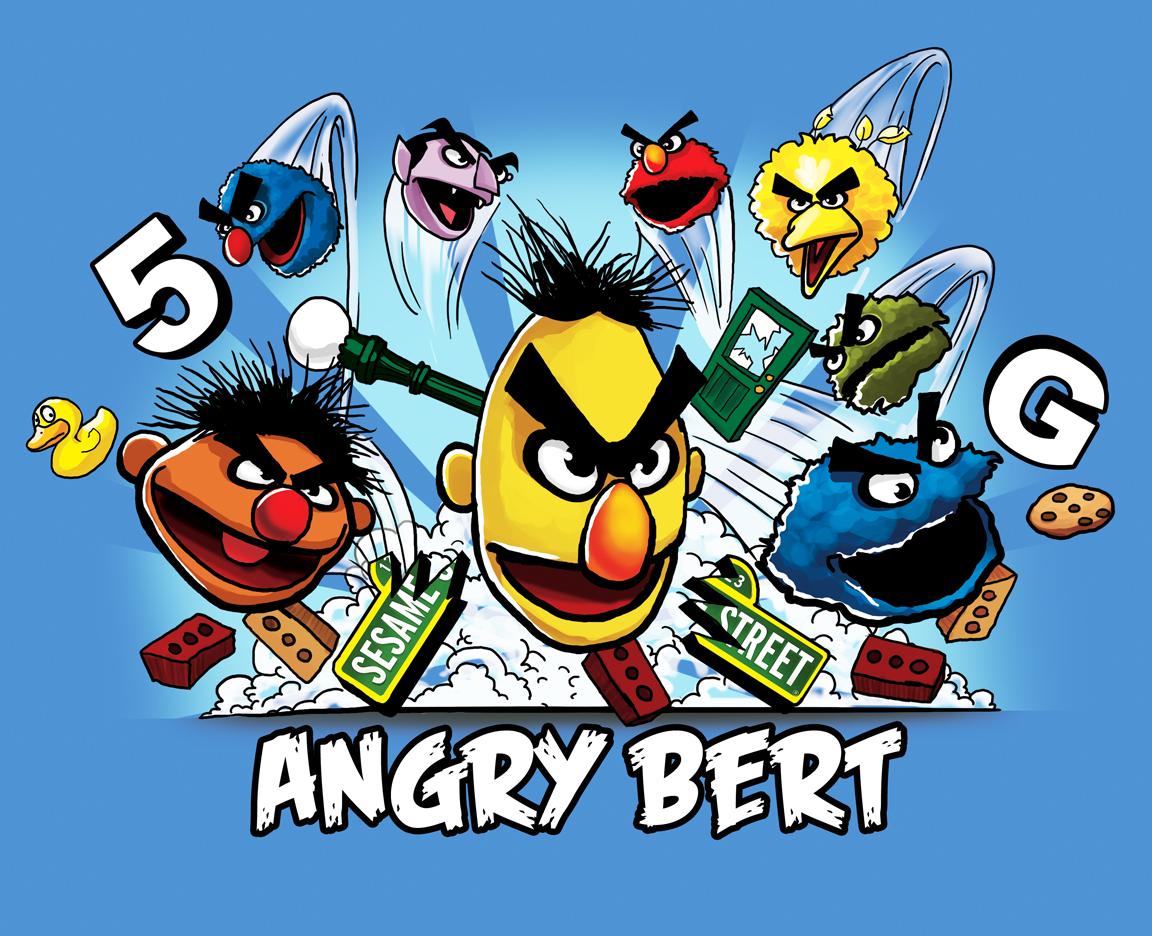 Bert Sesame Street Angry Traffic Club