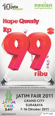 Promo Hape Nexian Murah di Jatim Fair Harga cuma 99 Ribu