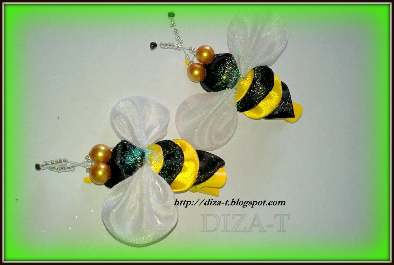Жучки пчелки бабочки канзаши мастер класс