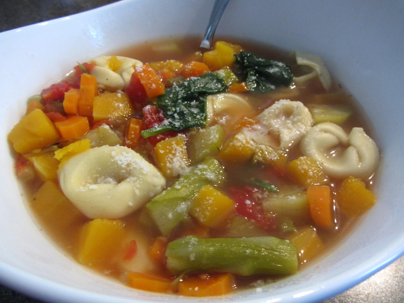 ... Master Gardener: Seven Vegetable Tortellini Soup (in a Slow Cooker