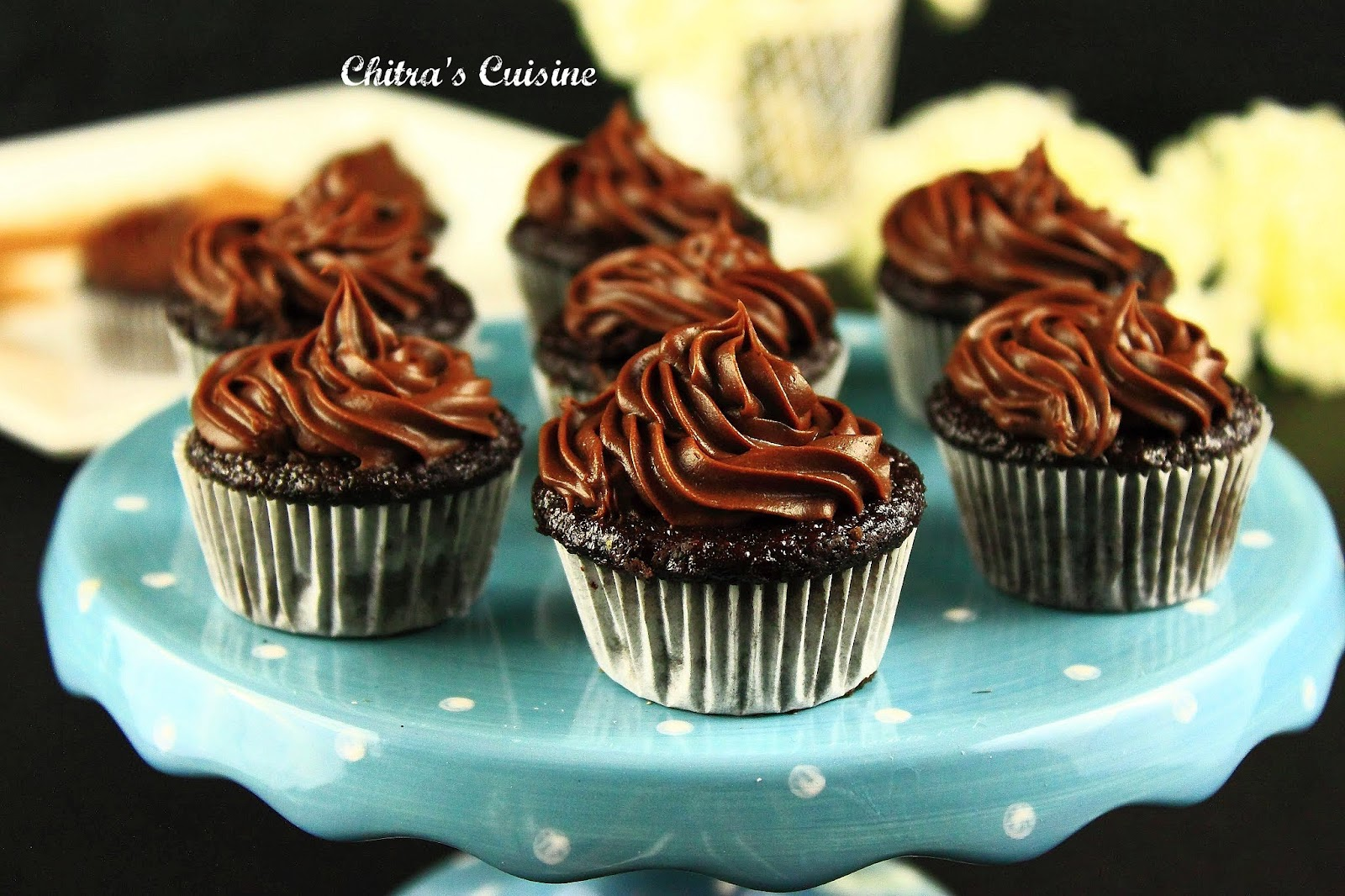 """Chitra's Cuisine: """"Perfectly Chocolate"""" Chocolate Cup Cake"""