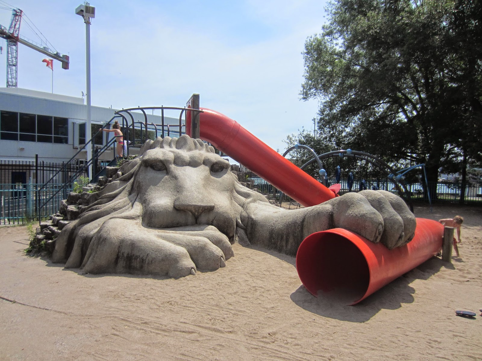 Little Norway Park and playground Toronto Lion Slide