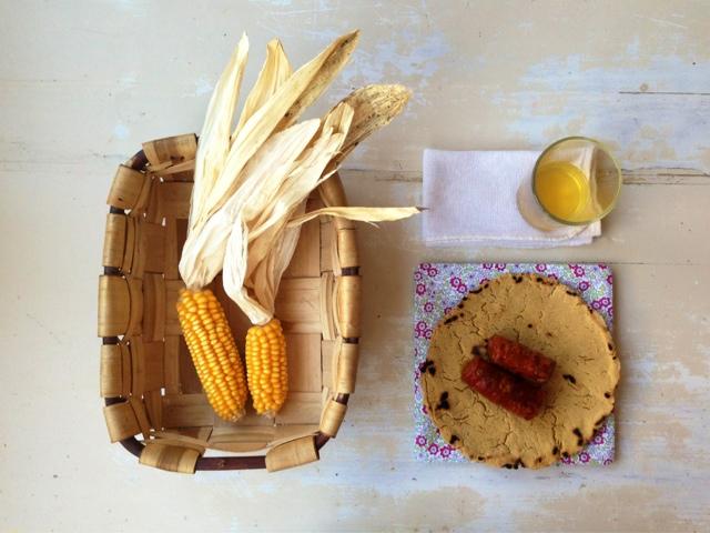 receta talo harina maiz chorizo y sidra