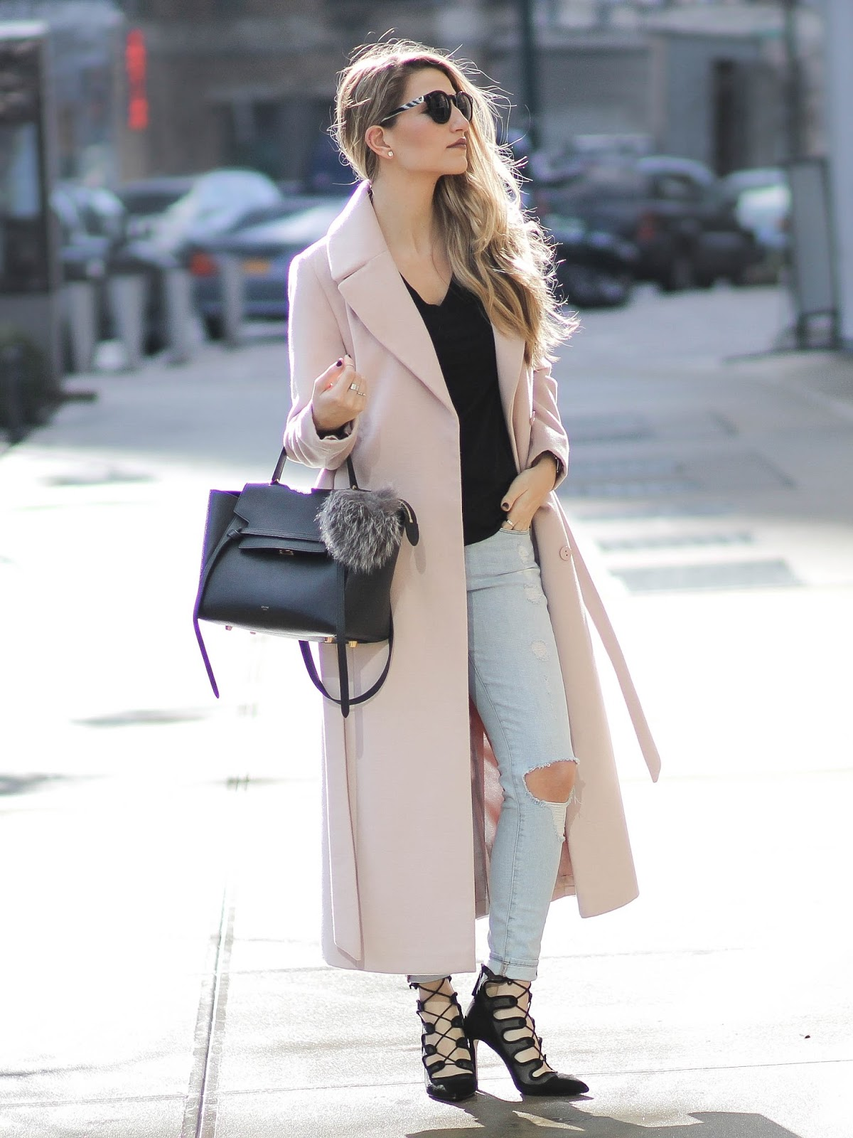 pale pink trench