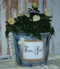 Upcycled Recycled Vintage Galvanized Pail