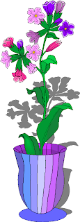 Beautiful Flowers in a Vase Clipart