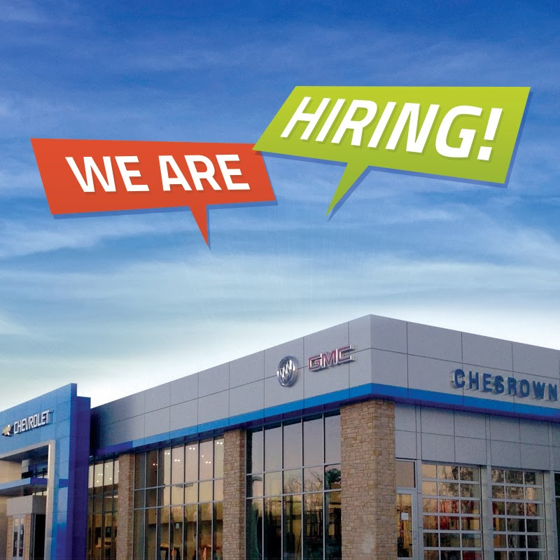 Chesrown Chevrolet Buick GMC is Hiring!