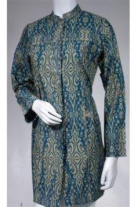 Batik Kasato 603 - Turqis Tua (Toko Jilbab dan Busana Muslimah Terbaru)