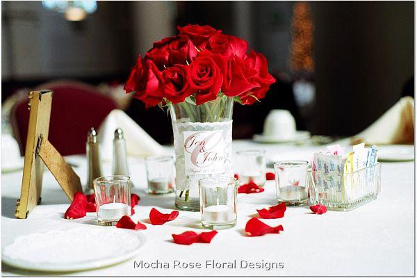 the centerpieces will be brought to the wedding by flowers by anne and it
