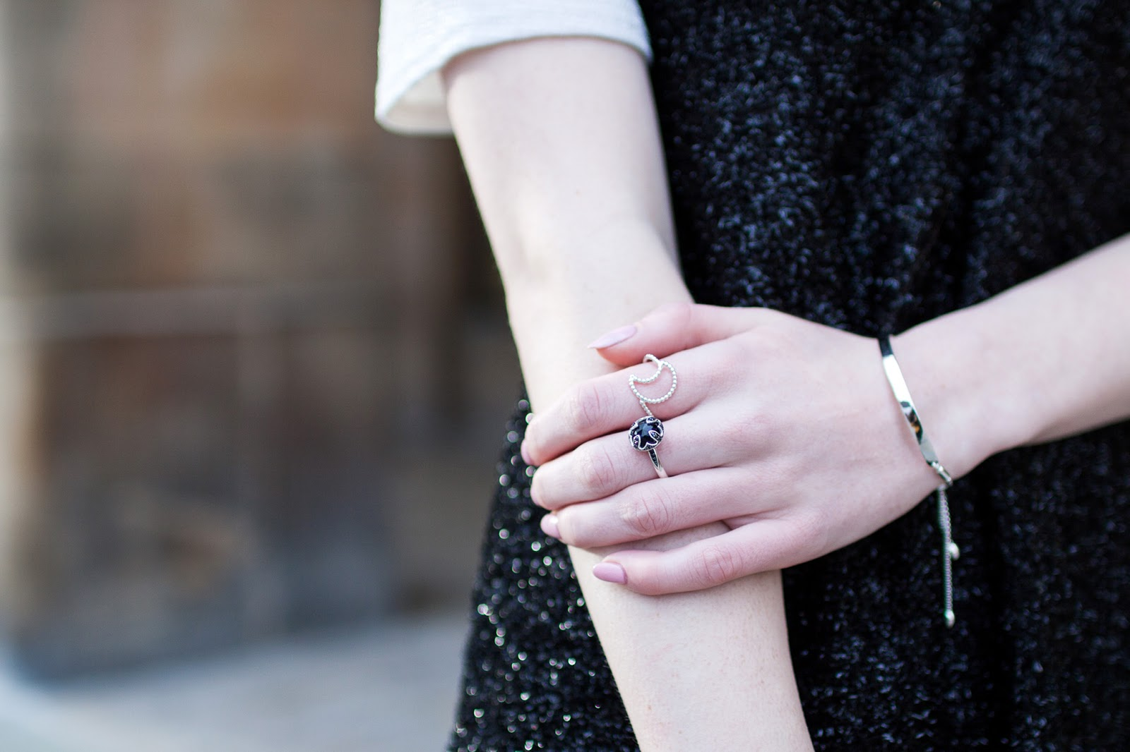 black tinsel dress