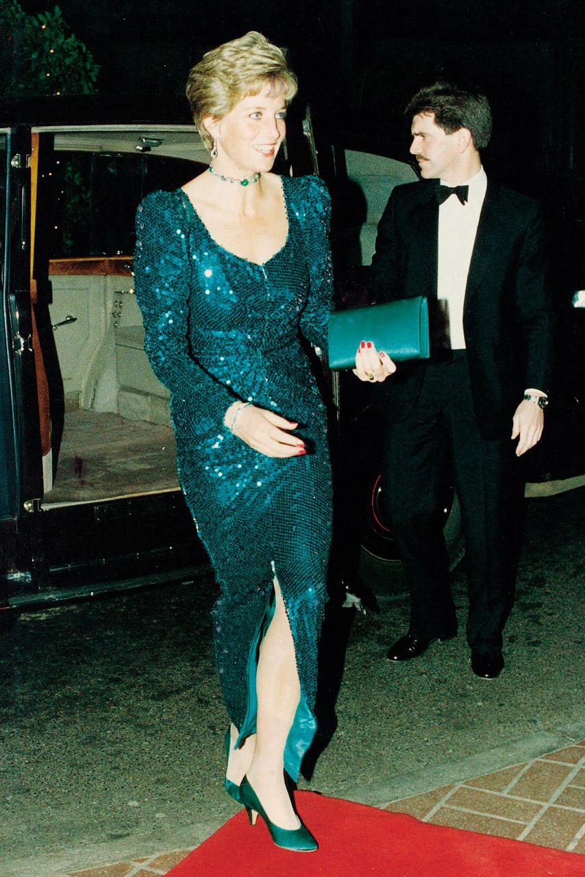 Princess Diana strapazierfähig Catherine Walker am Magnolien aus ...