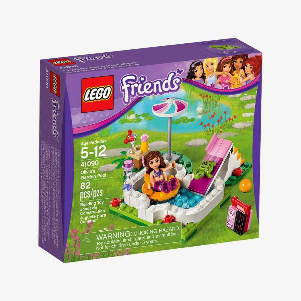 Brick friends lego 41090 olivia 39 s garden pool for Garden city pool 2015
