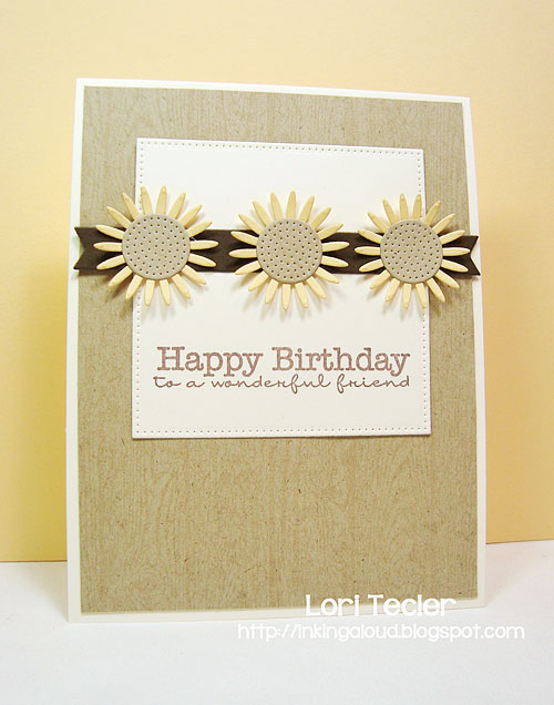 Daisy Birthday card-designed by Lori Tecler/Inking Aloud-stamps and dies from My Favorite Things