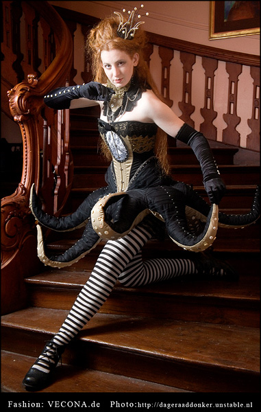 octopus skirt cosplay costume gothic victorian steampunk dress