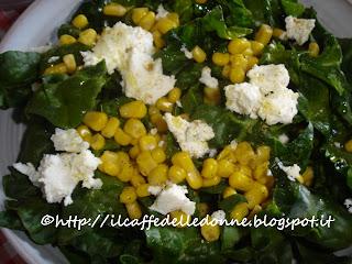 insalata spinaci e feta
