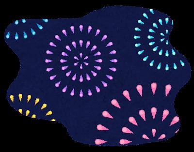 花火のイラスト「夜空の打ち上げ花火」
