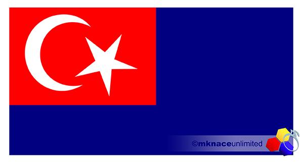 mknace unlimited™ | Bendera negeri Johor Darul Ta'zim berdasarkan ukuran sebenar