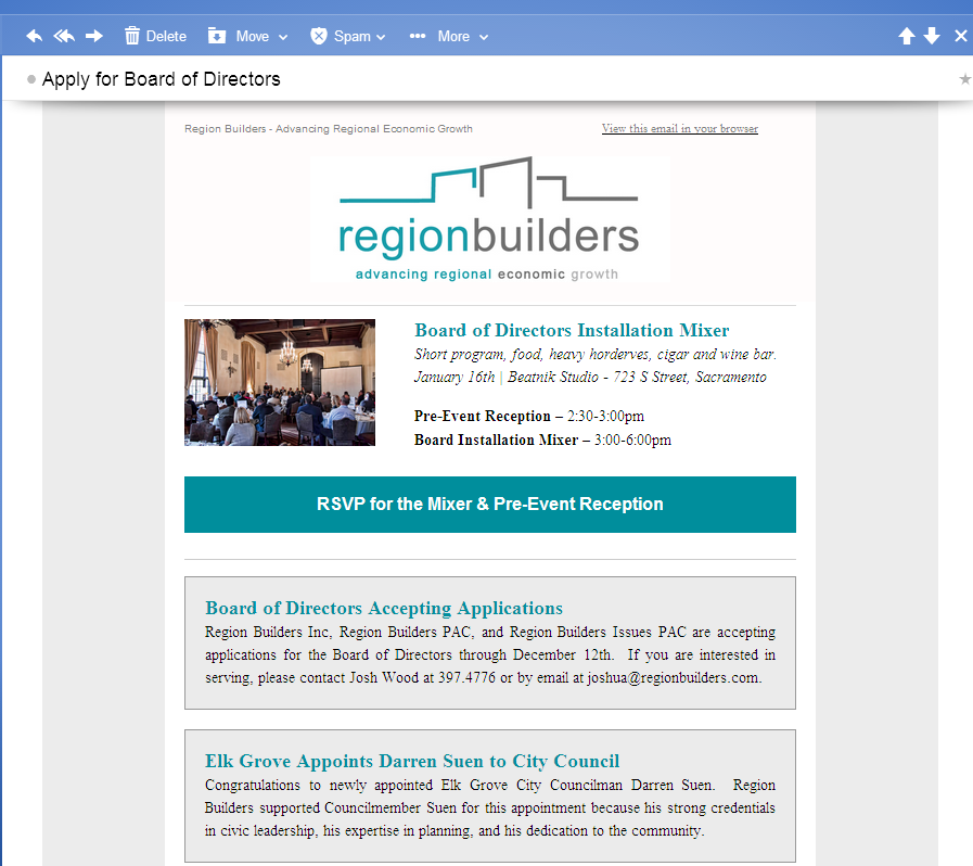 Region Builders 'Really Excited' With Suen Appointment