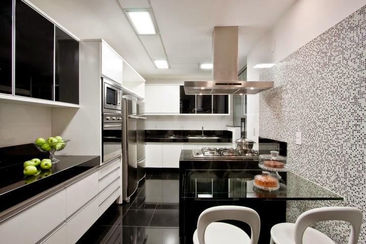 decorar cozinha grande : decorar cozinha grande:Cozinha Preto E Branco
