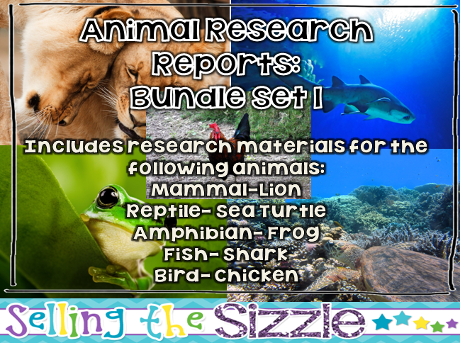 http://www.teacherspayteachers.com/Product/Animal-Research-Reports-Bundle-Set-1-1239549
