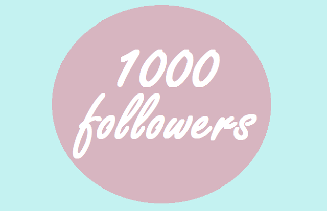 1000 Followers!! 1