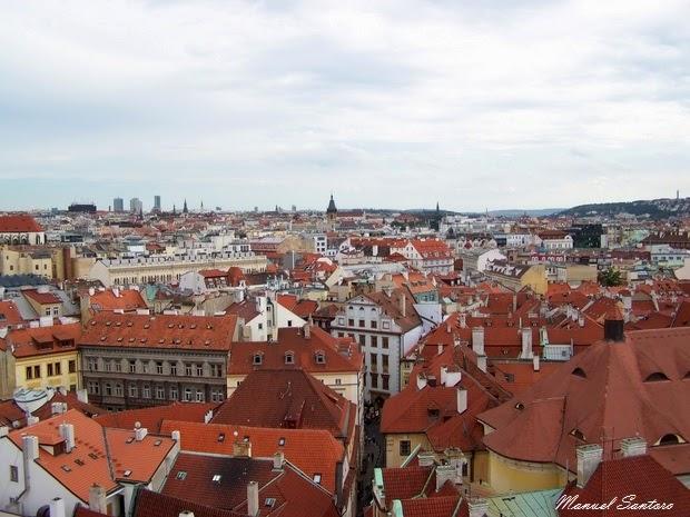 Praga, vista dalla Torre dell'Orologio