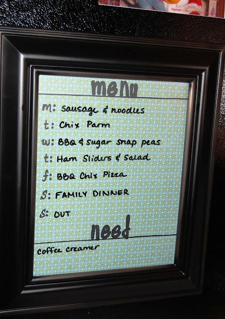 DIY: Reusable Menu Board